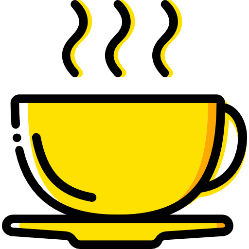 Coffee Cup Flat Gold Icon