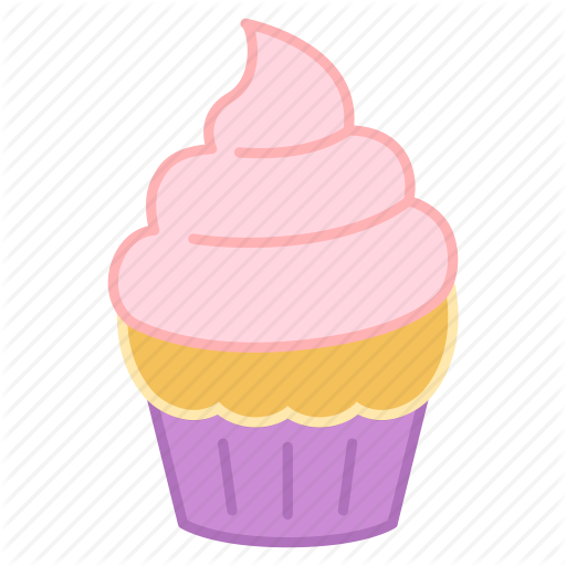 Baking, Cake, Colour, Cupcake, Icing, Pink, Sweets Icon