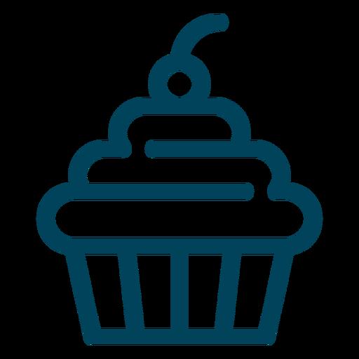 Cupcake Stroke Icon