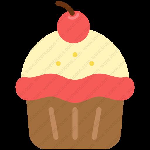 Download Birthday,cupcake,dessert,muffn Inventicons