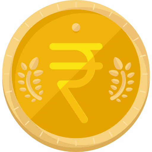 Rupee, Star, Sign, Currency Icon