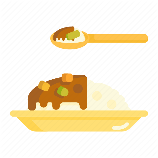 Curry, Curry Rice, Rice Icon