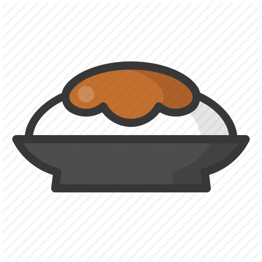Curry, Curry Rice, Food, Japan, Line, Plate, Rice Icon