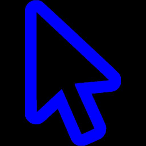 Blue Cursor Icon