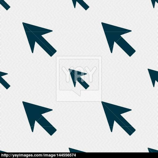 Cursor, Arrow Icon Sign Seamless Abstract Background