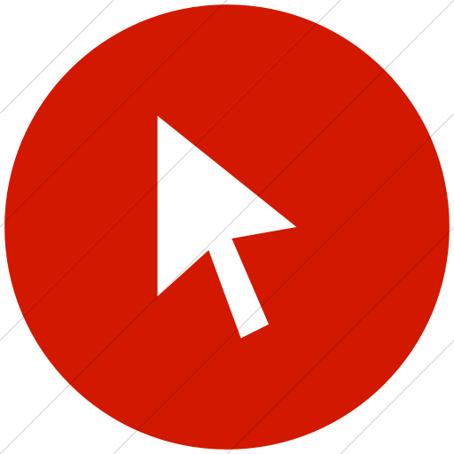 Flat Circle White On Red Broccolidry Cursor Icon