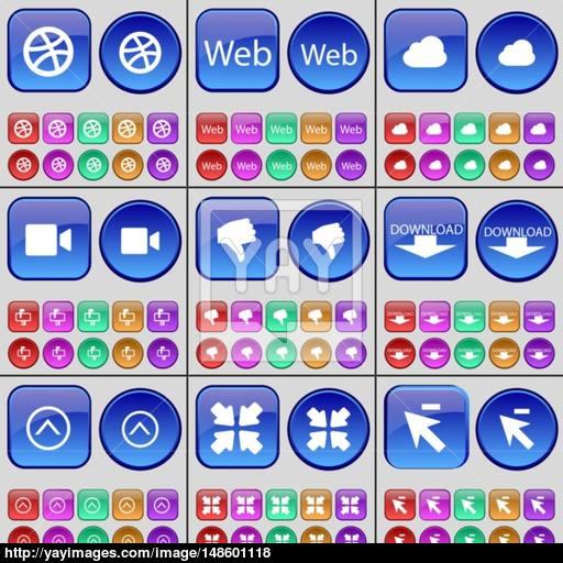 Ball, Web, Cloud, Film Camera, Dislike, Download, Arrow Up