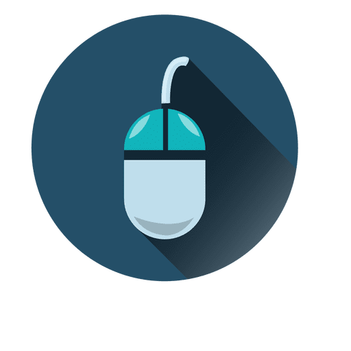 Mouse Circle Icon With Drop Shadow