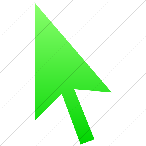 Simple Ios Neon Green Gradient Classica Mouse Pointer Icon