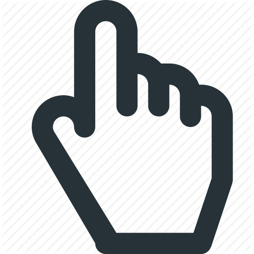 Cursor, Finger, Hand, Index, Link, Pointer Icon