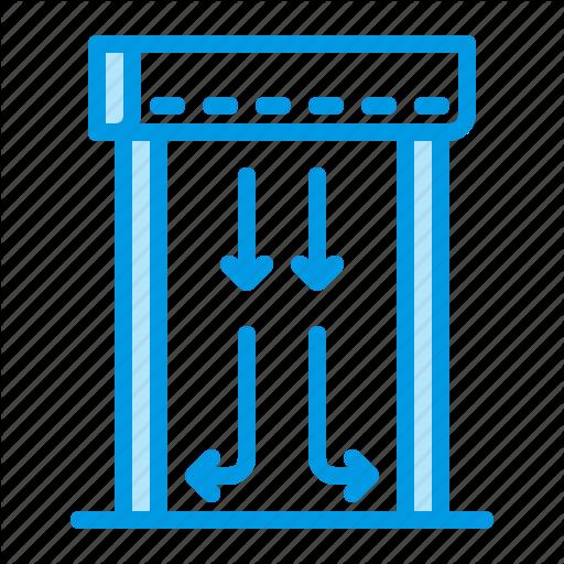 Air, Curtain, Heating Icon
