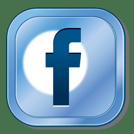 Facebook Metallic Button