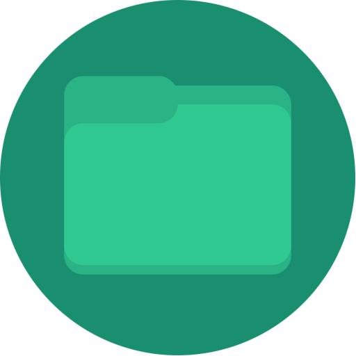 , Filemanager, Folder, Green, Minimal Icon