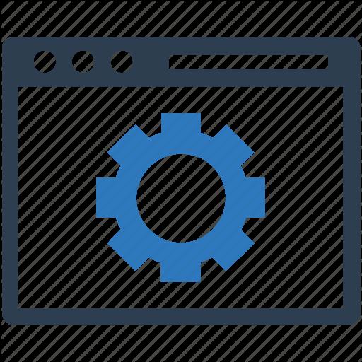 Browser, Business, Control, Custom, Engine, Gear, Internet Icon