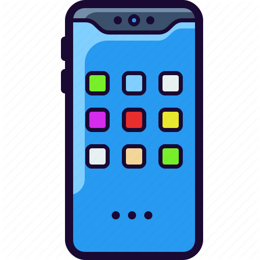 Cell, Iphone, Mobile, Notch, Phone, Samsung Icon