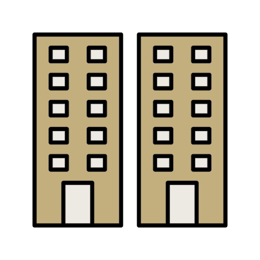 Building, Flats, Office, Offices, Windows Icon