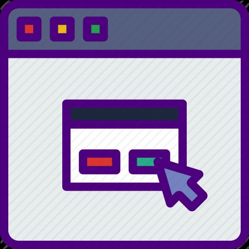 Click, Interaction, Internet, User, Web, Windows Icon