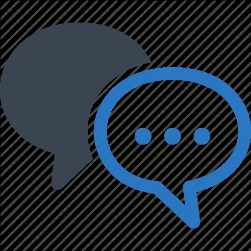 Chat, Communication, Customer Service, Speech Bubbles Icon