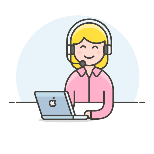 Customer Service Woman Icon Streamline Ux Free Iconset