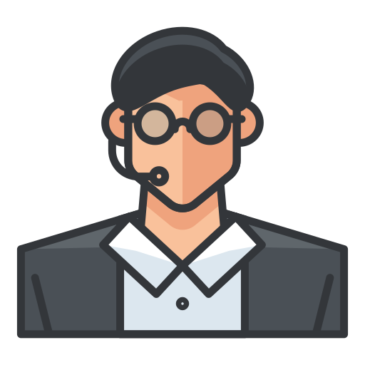 Customer, Service, Agent, Support, Person Icon Free Of Free