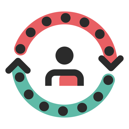 Customer Cycle Colored Stroke Icon