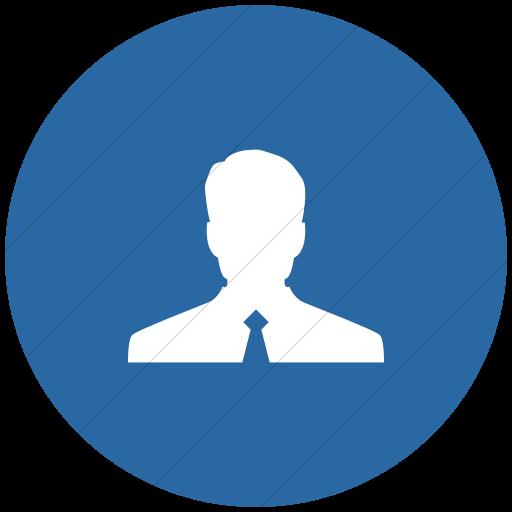 Flat Circle White On Blue Raphael Customer Icon