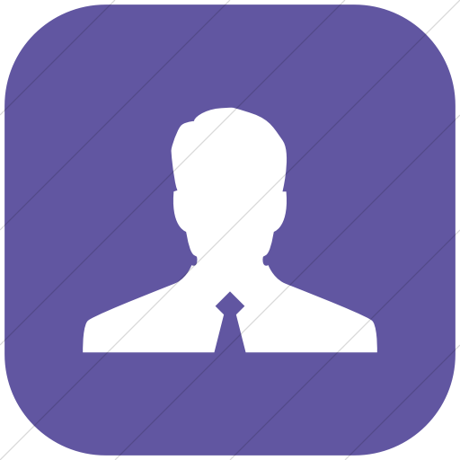 Flat Rounded Square White On Purple Raphael Customer Icon
