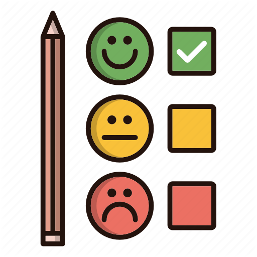 Customer, Emoji, Feedback, Satisfaction, Survey Icon