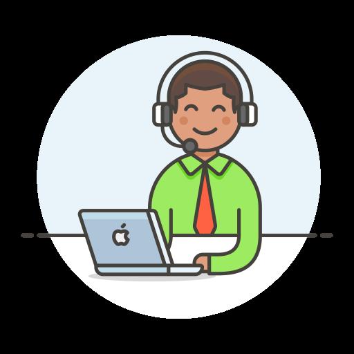 Customer Service Man Icon Streamline Ux Free Iconset