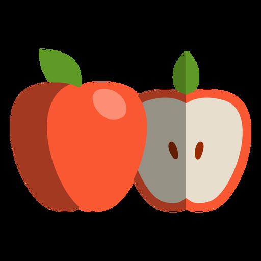 Apple Cut To Half Icon