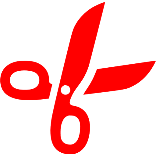 Red Cut Icon