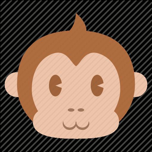 Animal, Ape, Cute, Face, Head, Monkey, Saru Icon