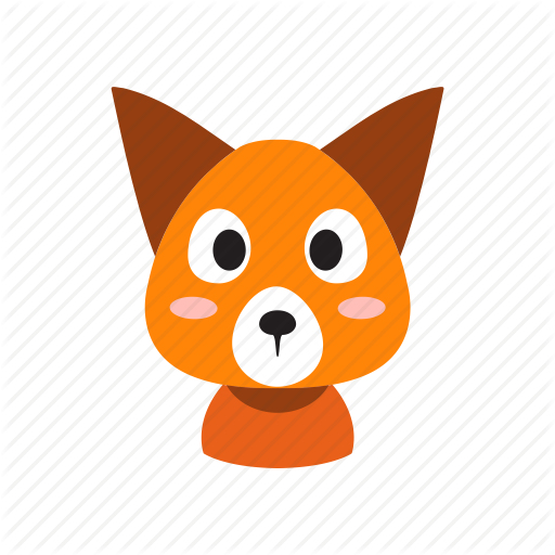 Animal, Cartoon, Character, Cute, Fox, Front, Wild Icon