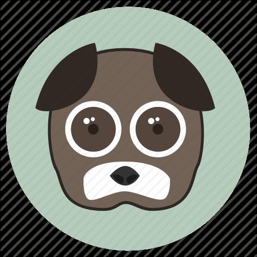 Animals, Big Eyes, Cute, Dog, Face, Pets Icon