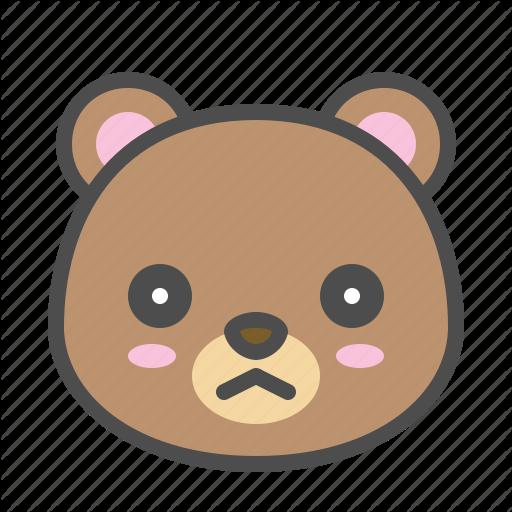 Avatar, Bear, Cute, Face, Sad Icon