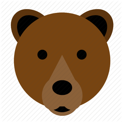 Bear, Brown, Brown Bear, Cute, Face, Happy, Head Icon