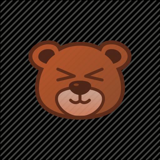 Bear, Cute, Emoticon, Shy Icon