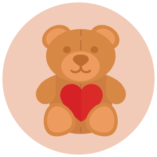 Teddy Bear, Love, Heart Icon Free Of Valentine's Icons