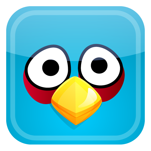 Blue Bird Icon Angry Birds Iconset Fast Icon Design