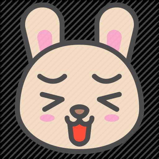 Animal, Avatar, Bunny, Cute, Emoji, Happy, Rabbit Icon