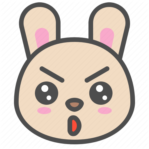 Animal, Avatar, Bunny, Cute, Emoji, Rabbit, Serious Icon