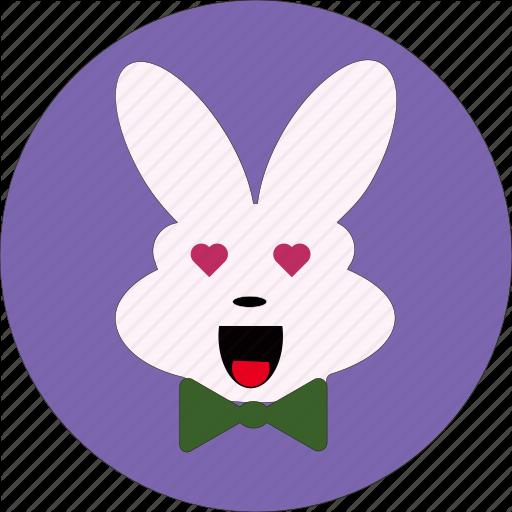 Bunny, Cute, Rabbit Face, Rabbit Icon, Rabbit Symbol Icon
