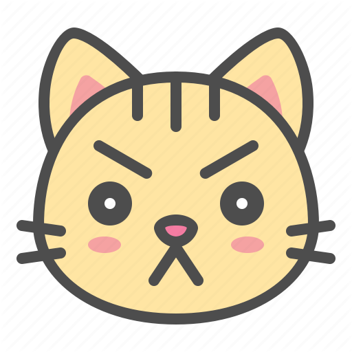 Cat, Cute, Face, Kitten, Pet, Serious Icon