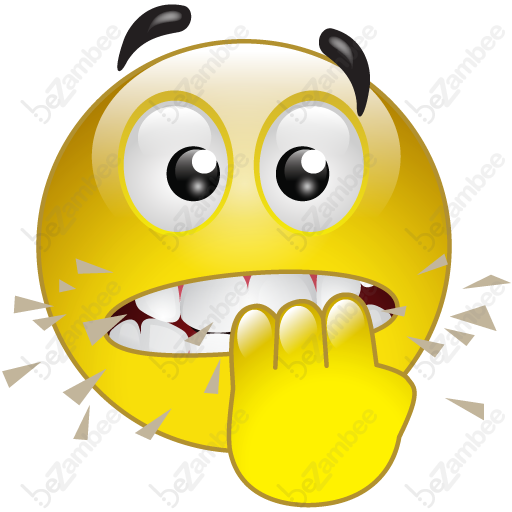 Nervous Smileys Yellow Smiley Face, Goofy Face, Emoticon
