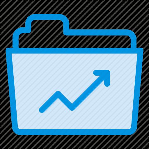 Chart, Diagram, Folder, Graph Icon
