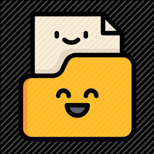 Cute, Document, Education, Folder, Paper, School Icon