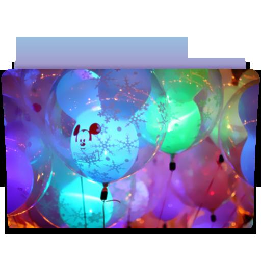 Folder Balloons Icon Cute Folders Iconset Anabella Falivene
