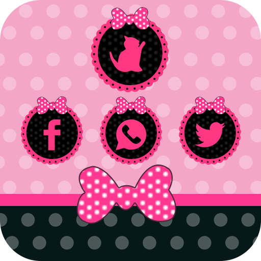 Pink Cute Girl Bow Theme Love Download Apk Para Android