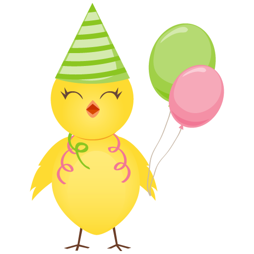 Party Chicken Icon Cute Chicken Iconset Dapino