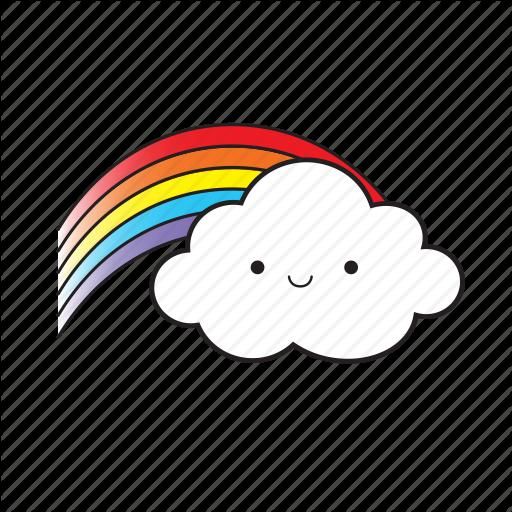 Cloud, Rainbow, Smile Icon